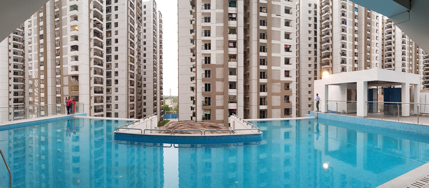 Luxury 3 4bhk flats apartments for sale in hitech city - Swimming pool construction cost in hyderabad ...