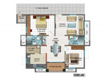 Unit-plan-9-1250WSft